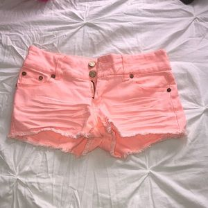 Colored Jean Shorts
